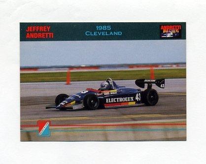 1992 Collect-A-Card Andretti Racing #92 Jeff Andretti's Car
