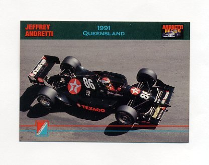 1992 Collect-A-Card Andretti Racing #82 Jeff Andretti's Car