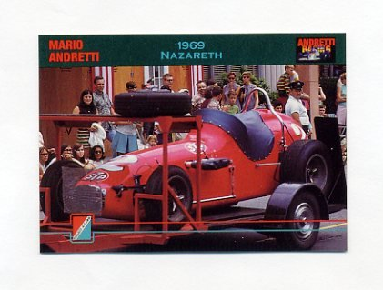 1992 Collect-A-Card Andretti Racing #51 Mario Andretti's Car