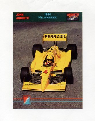 1992 Collect-A-Card Andretti Racing #40 John Andretti's Car