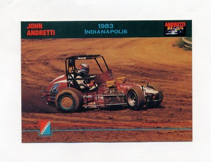 1992 Collect-A-Card Andretti Racing #33 John Andretti's Car