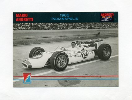 1992 Collect-A-Card Andretti Racing #12 Mario Andretti in Car