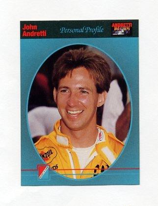 1992 Collect-A-Card Andretti Racing #08 John Andretti