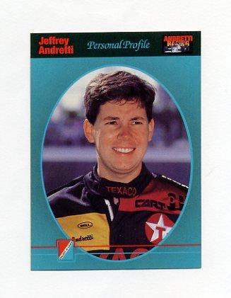1992 Collect-A-Card Andretti Racing #07 Jeff Andretti
