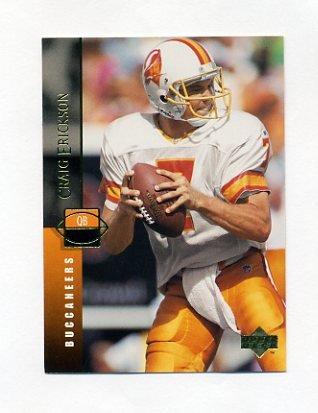 1994 Upper Deck Football #297 Craig Erickson - Tampa Bay Buccaneers