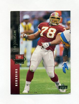 1994 Upper Deck Football #238 Tim Johnson - Washington Redskins