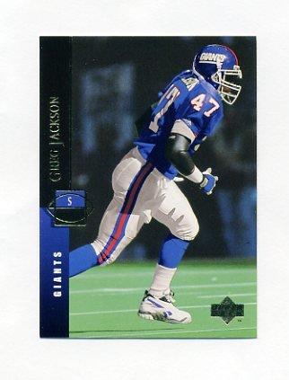 1994 Upper Deck Football #200 Greg Jackson - New York Giants
