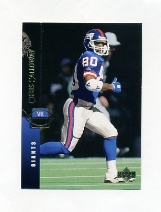 1994 Upper Deck Football #100 Chris Calloway - New York Giants
