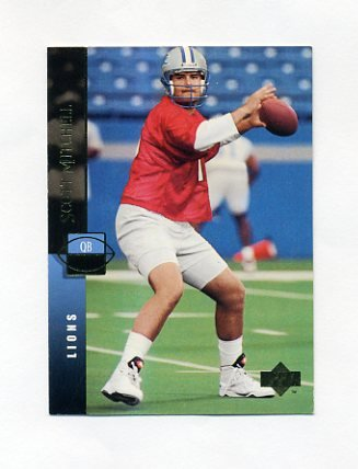 1994 Upper Deck Football #053 Scott Mitchell - Detroit Lions