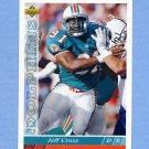 1993 Upper Deck Football #455 Jeff Cross - Miami Dolphins
