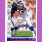 1993 Upper Deck Football #344 Kanavis McGhee - New York Giants