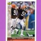 1993 Upper Deck Football #233 Mike Johnson - Cleveland Browns