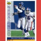 1993 Upper Deck Football #133 Derrick Walker - San Diego Chargers