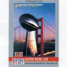 1990 Pro Set Theme Art Football #19 Super Bowl XIX San Francisco 49ers / Miami Dolphins