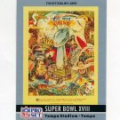 1990 Pro Set Theme Art Football #18 Super Bowl XVIII Los Angeles Raiders / Washington Redskins