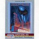 1990 Pro Set Theme Art Football #17 Super Bowl XVII Washington Redskins / Miami Dolphins