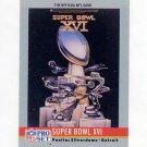 1990 Pro Set Theme Art Football #16 Super Bowl XVI San Francisco 49ers / Cincinnati Bengals