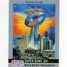 1990 Pro Set Theme Art Football #14 Super Bowl XIV Pittsburgh Steelers / Los Angeles Rams