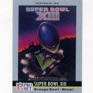 1990 Pro Set Theme Art Football #13 Super Bowl XIII Pittsburgh Steelers / Dallas Cowboys