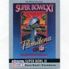 1990 Pro Set Theme Art Football #11 Super Bowl XI Oakland Raiders / Minnesota Vikings