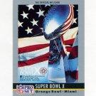 1990 Pro Set Theme Art Football #10 Super Bowl X Pittsburgh Steelers / Dallas Cowboys