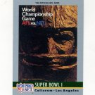 1990 Pro Set Theme Art Football #01 Super Bowl I Green Bay Packers / Kansas City Chiefs