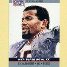 1990 Pro Set Super Bowl MVP's Football #20 Richard Dent - Chicago Bears