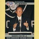 1990 Pro Set Football #786 Al Davis - Los Angeles Raiders
