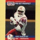 1990 Pro Set Football #740 Greg McMurtry RC - New England Patriots