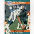 1990 Pro Set Football #737 Jeff Uhlenhake - Miami Dolphins