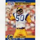 1990 Pro Set Football #736 Frank Stams - Los Angeles Rams