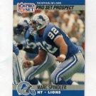 1990 Pro Set Football #733 Marc Spindler RC - Detroit Lions