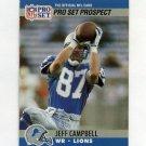 1990 Pro Set Football #732 Jeff Campbell RC - Detroit Lions