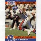 1990 Pro Set Football #721 Alton Montgomery RC - Denver Broncos