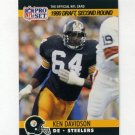 1990 Pro Set Football #712 Kenny Davidson RC - Pittsburgh Steelers