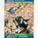 1990 Pro Set Football #698B Terry Wooden RC - Seattle Seahawks