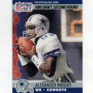 1990 Pro Set Football #695 Alexander Wright RC - Dallas Cowboys