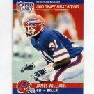 1990 Pro Set Football #684 James Williams RC - Buffalo Bills