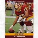 1990 Pro Set Football #660 Jeff Bostic - Washington Redskins