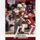 1990 Pro Set Football #616 Cedric Mack - Phoenix Cardinals