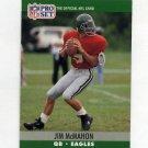 1990 Pro Set Football #610 Jim McMahon - Philadelphia Eagles