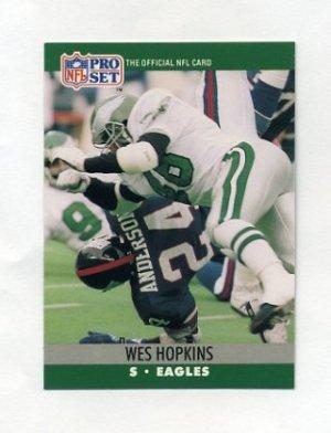 hot sale online baa95 ffb69 1990 Pro Set Football #607 Wes Hopkins - Philadelphia Eagles