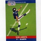 1990 Pro Set Football #597 Sean Landeta - New York Giants