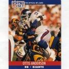 1990 Pro Set Football #591 Ottis Anderson - New York Giants