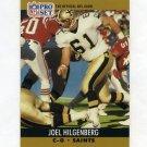 1990 Pro Set Football #588 Joel Hilgenberg RC - New Orleans Saints