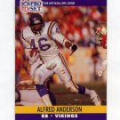 1990 Pro Set Football #565 Alfred Anderson - Minnesota Vikings