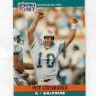 1990 Pro Set Football #564 Pete Stoyanovich - Miami Dolphins