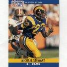 1990 Pro Set Football #553 Michael Stewart RC - Los Angeles Rams