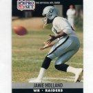 1990 Pro Set Football #544 Jamie Holland - Los Angeles Raiders