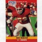 1990 Pro Set Football #537 Mike Webster - Kansas City Chiefs